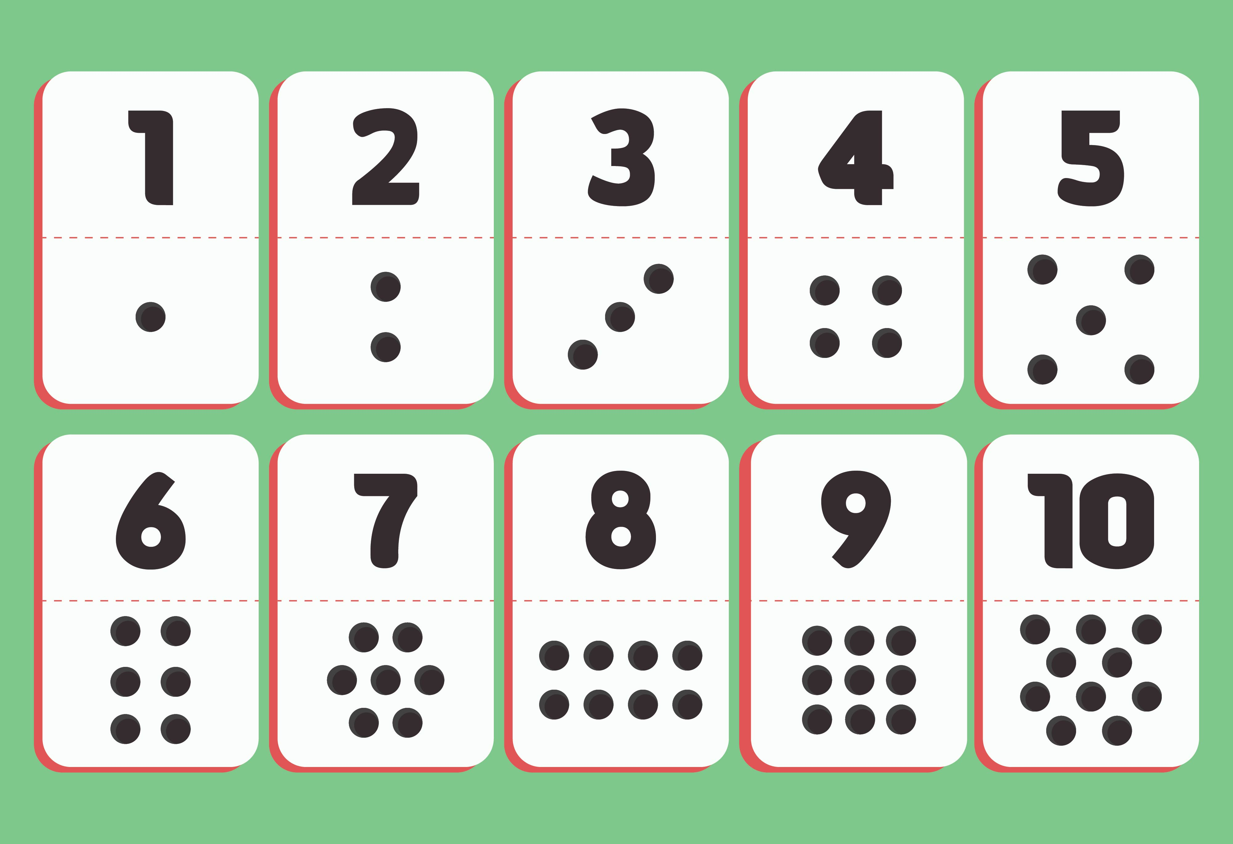 8 Best Images Of Digit Cards 1 10 Printable