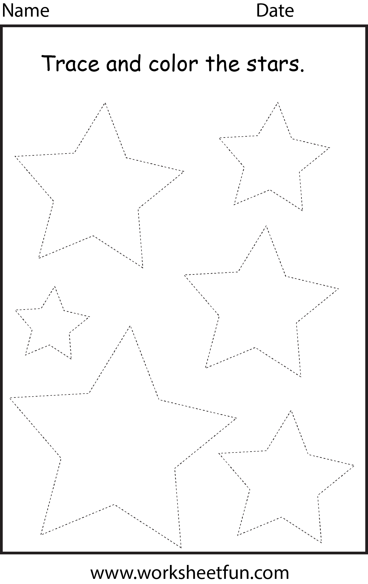 6 Best Images Of Printable Preschool Worksheets Star