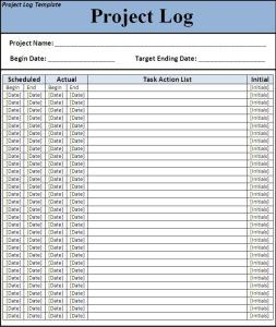 Project Log Request Form