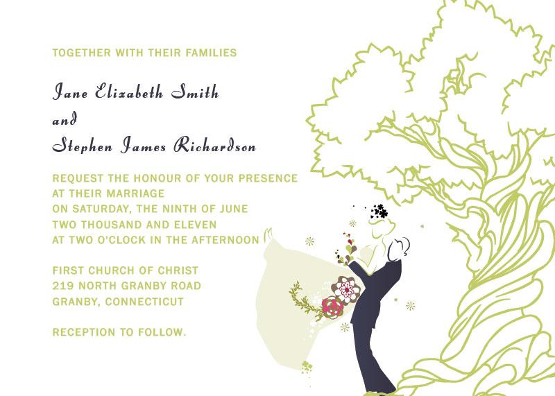 Árvore de carvalho convite de casamento impressão