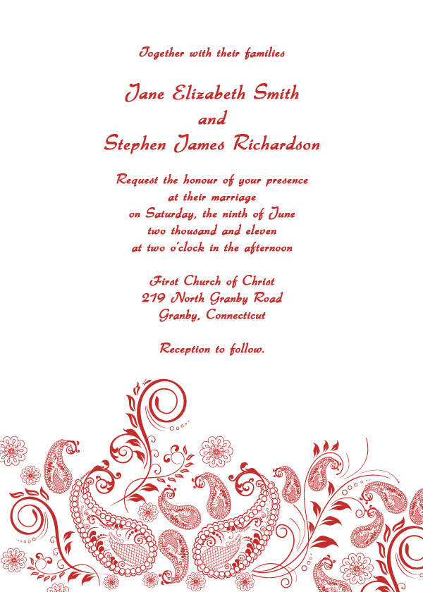 Printable Wedding Invitations For Beeindruckend Model Design Invitation With An Attractive 17