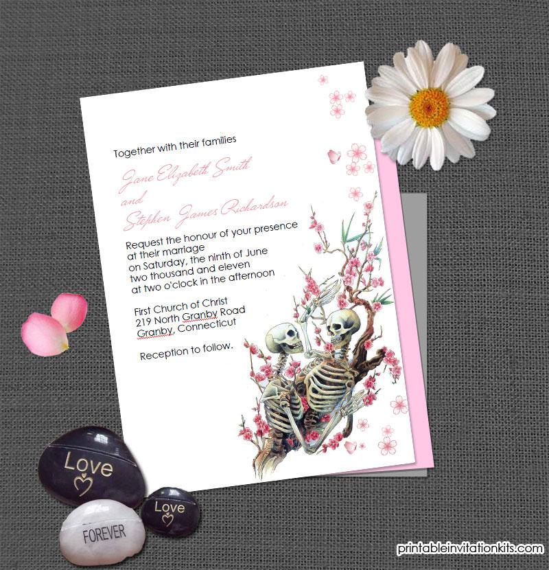halloween wedding invitation till