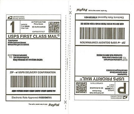 Shipping Label Template Usps Printable Label Templates