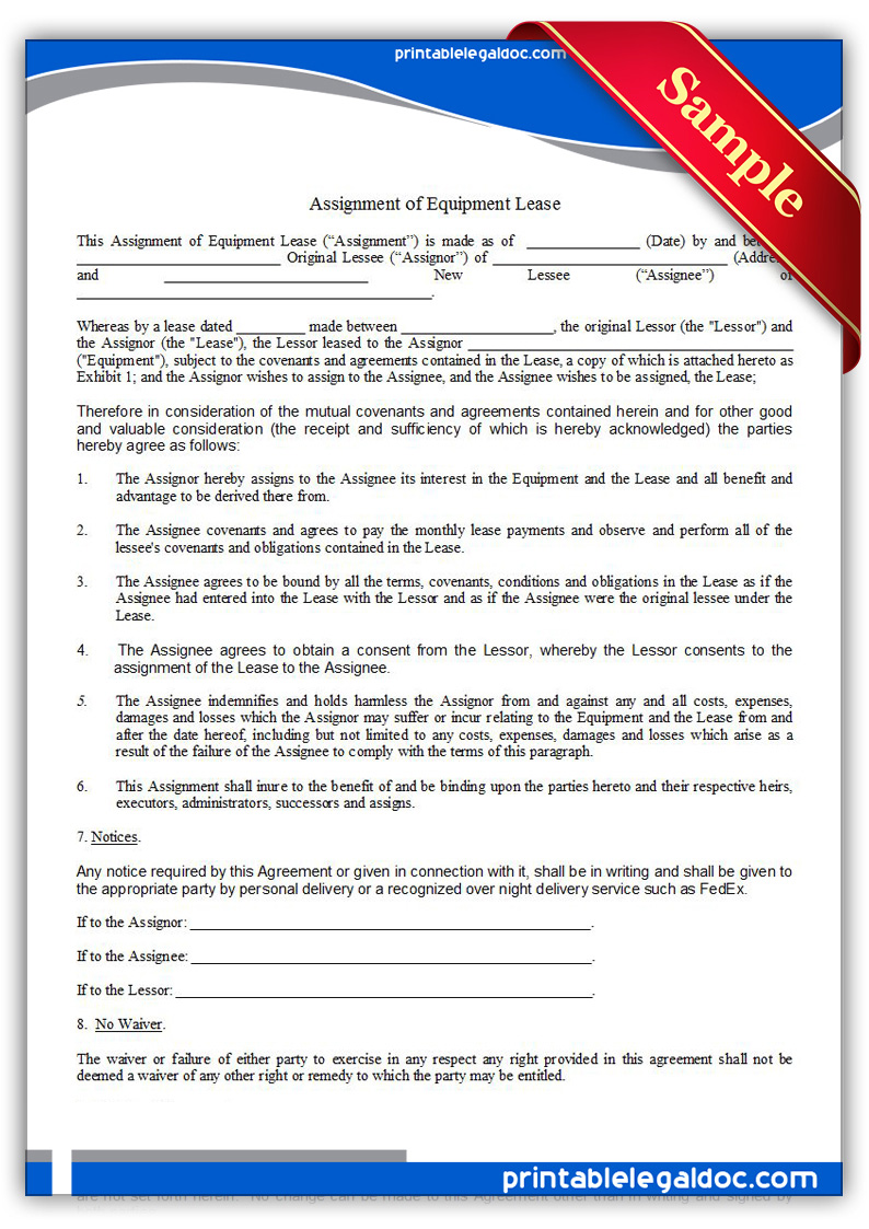 Assignment of lease with consent