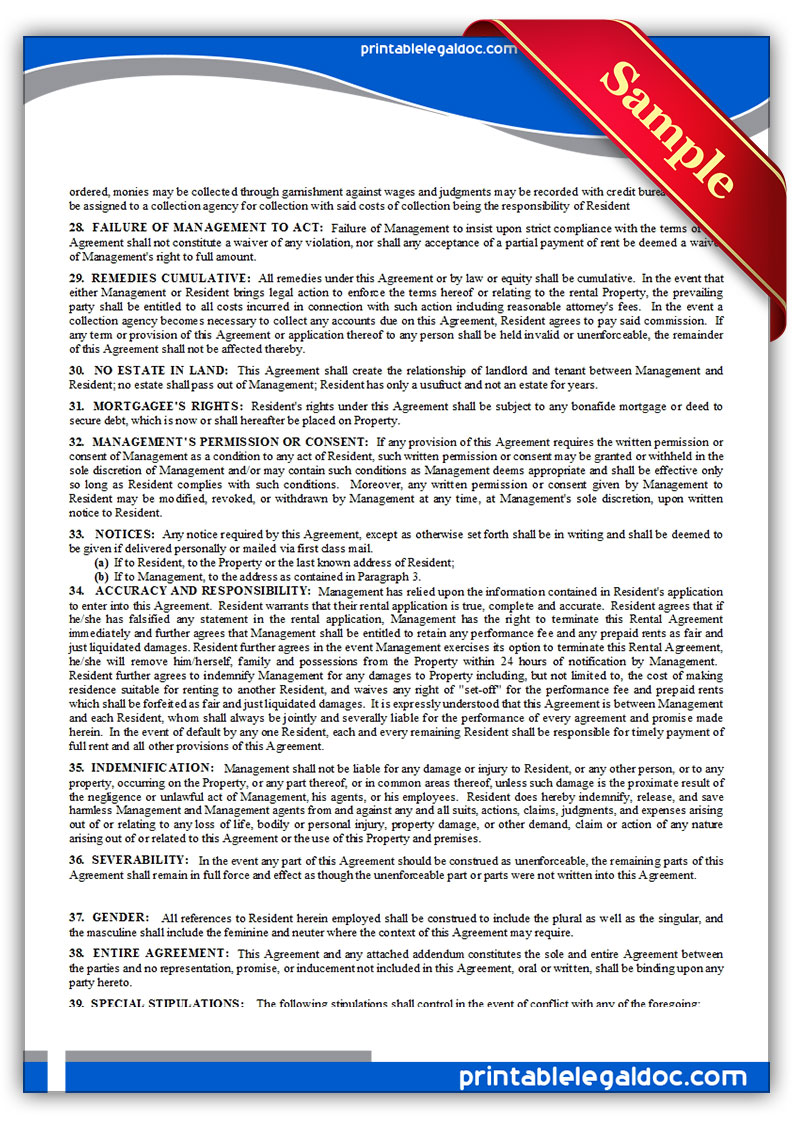 Rental Agreement Nc My Websites Review