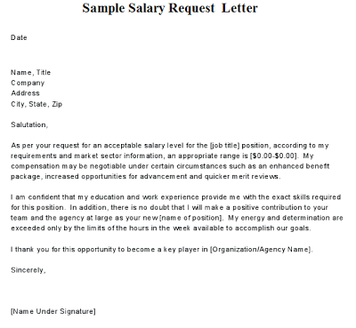 salary increase letter from employer informatin for letter – Sample Letter Salary Increase