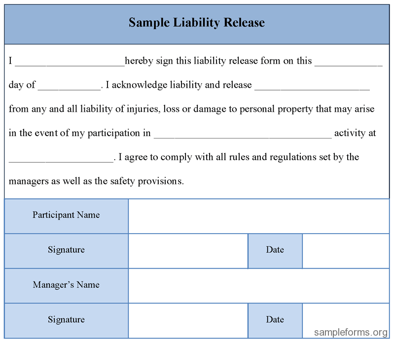 Waiver Template waiver and release usa legal templates agreements – Waiver Template for Liability