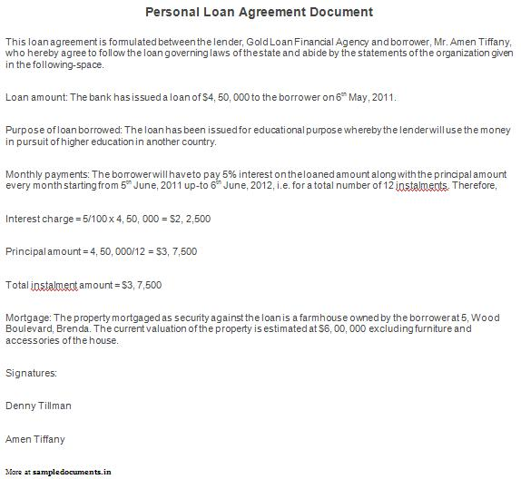 Personal Agreement Contract Template gym contract template 15 – Private Loan Agreement Template