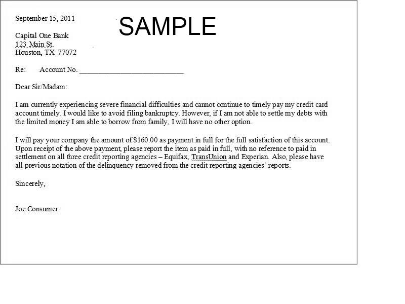 agreement to pay letter resume cv cover letter - Sample Settlement Letter