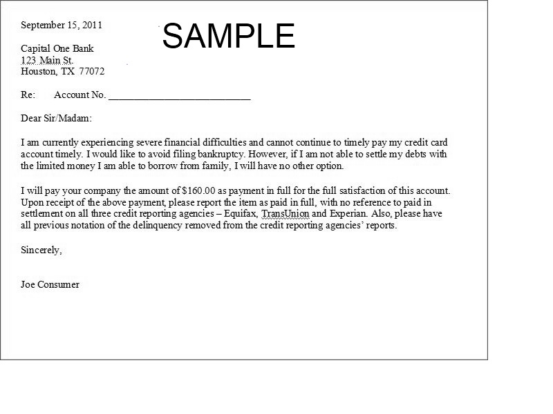 Debt Agreement Letter  Template