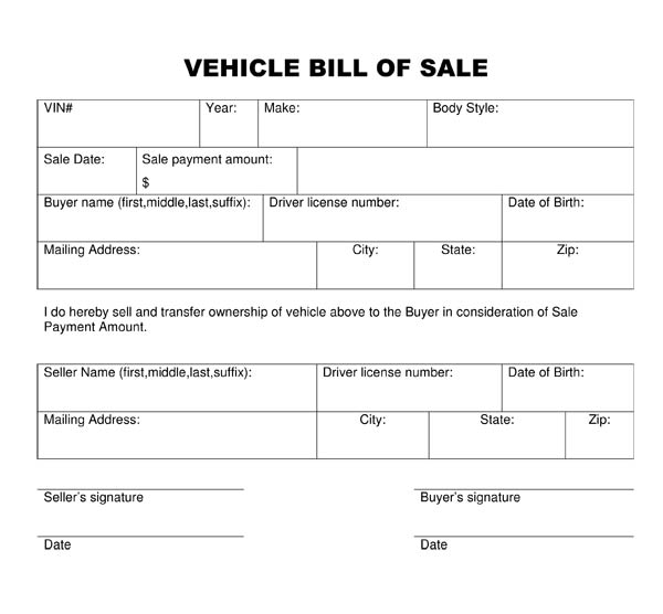 Order Buyers Texas Form