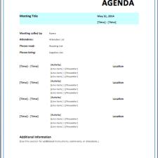 strategic meeting agenda
