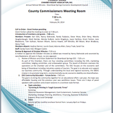 Annual Business Meeting Agenda Template