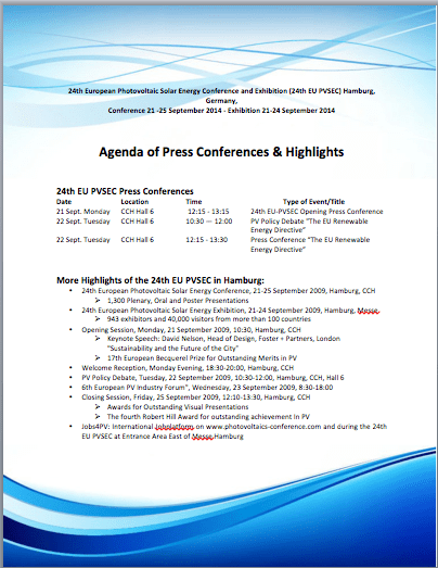 conference meeting agenda