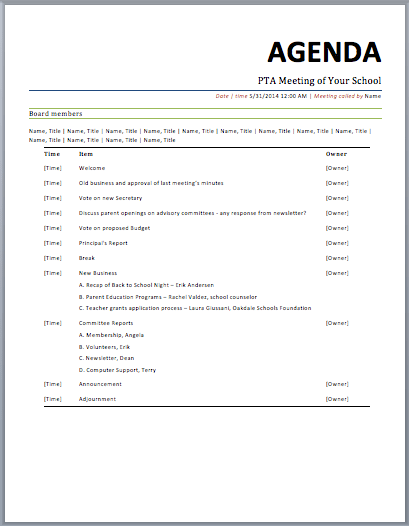 Managers Meeting Agenda Template best photos of weekly team – Management Meeting Agenda Template