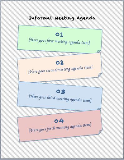 Informal Meeting Agenda Template | Printable Meeting Agenda Templates