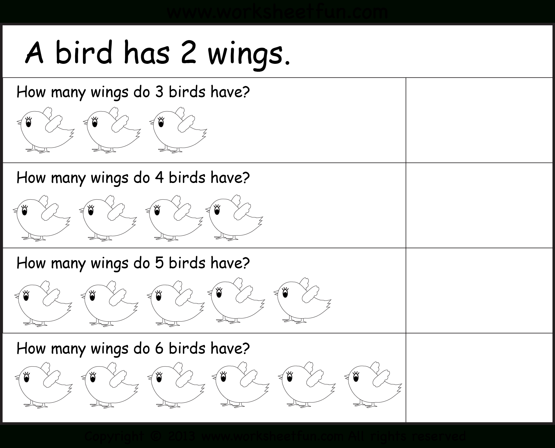 Multiplication Worksheets Year 1