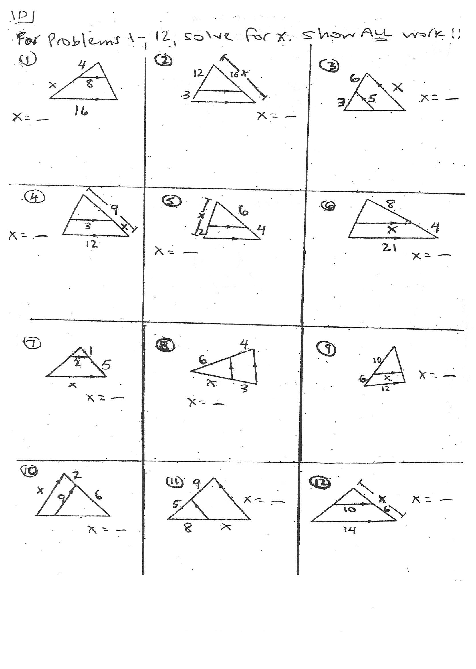 Printable Multiplication Triangles