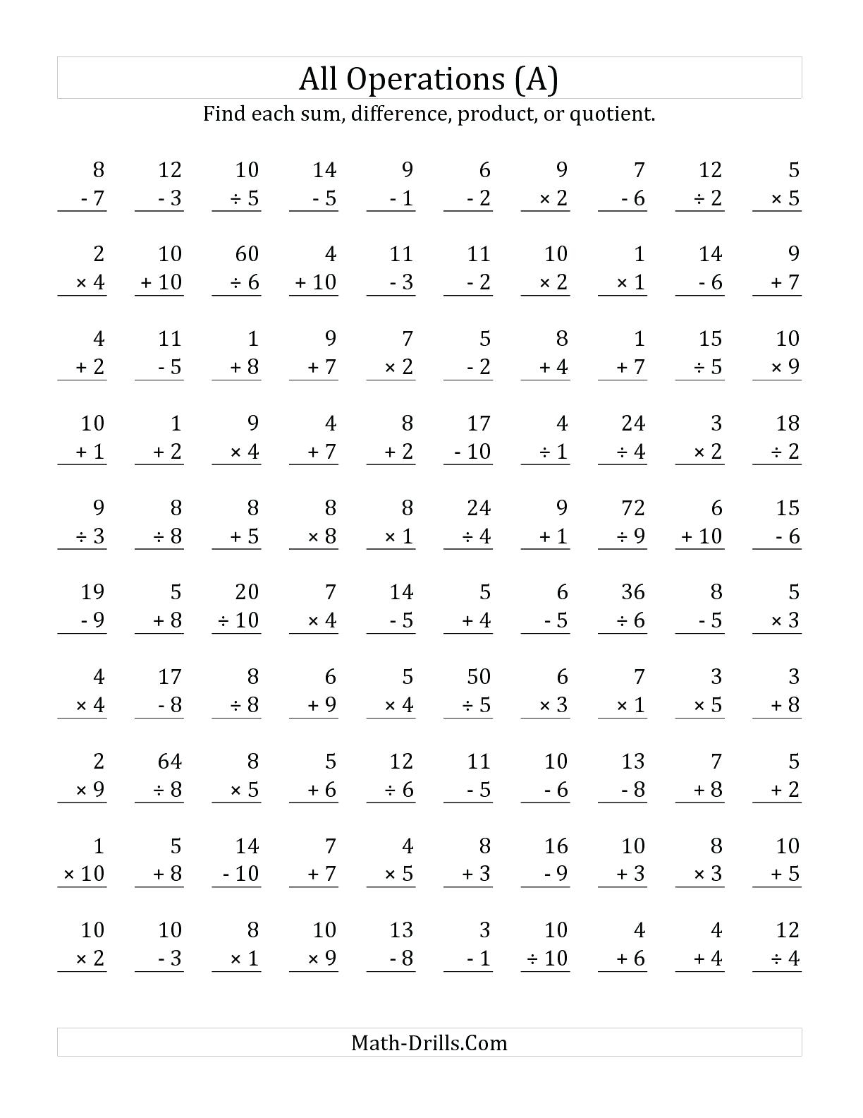 Multiplication Worksheets 7 12