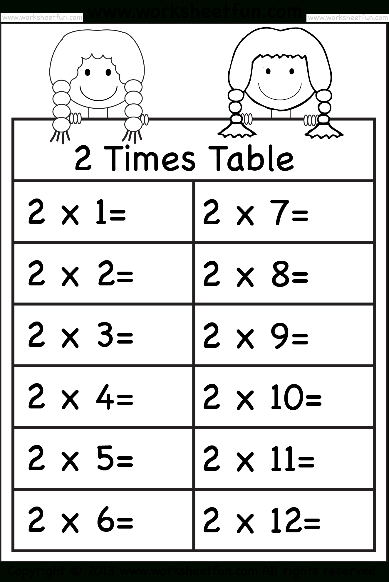 Multiplication Worksheets 3 Times Tables