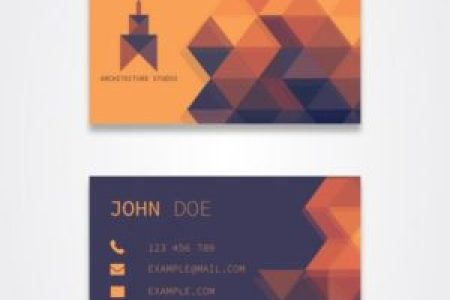 orange business card template designs free