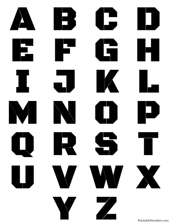 Big Letter Stencils Printable