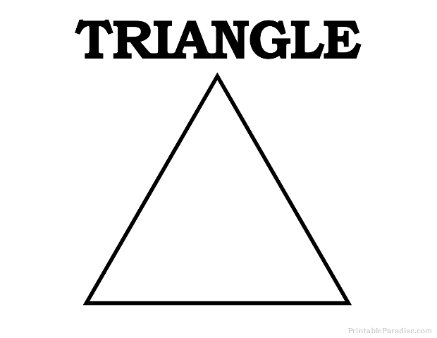image about Printable Triangles called Triangle Template Printable. banner template triangle