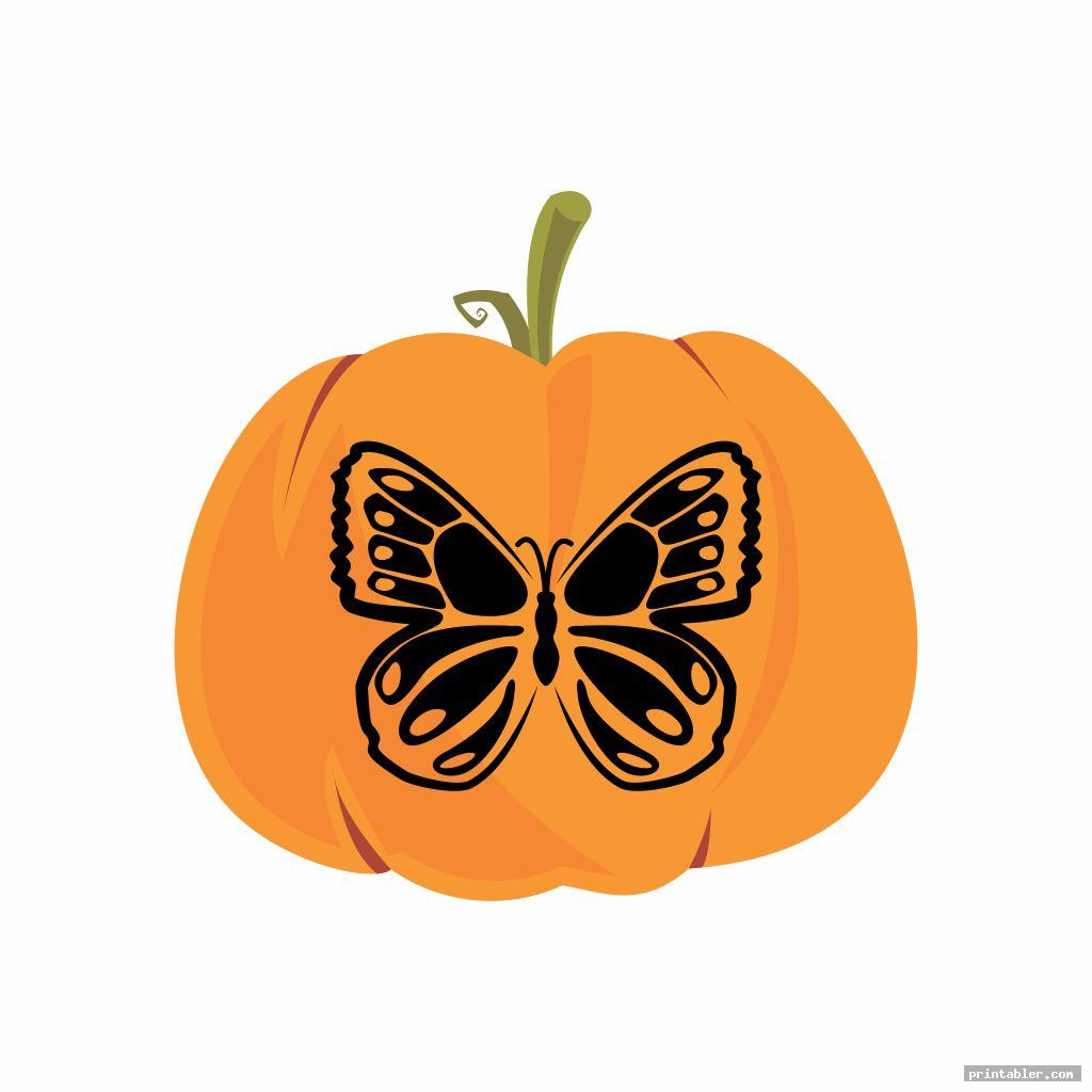 Butterfly Pumpkin Template Printable
