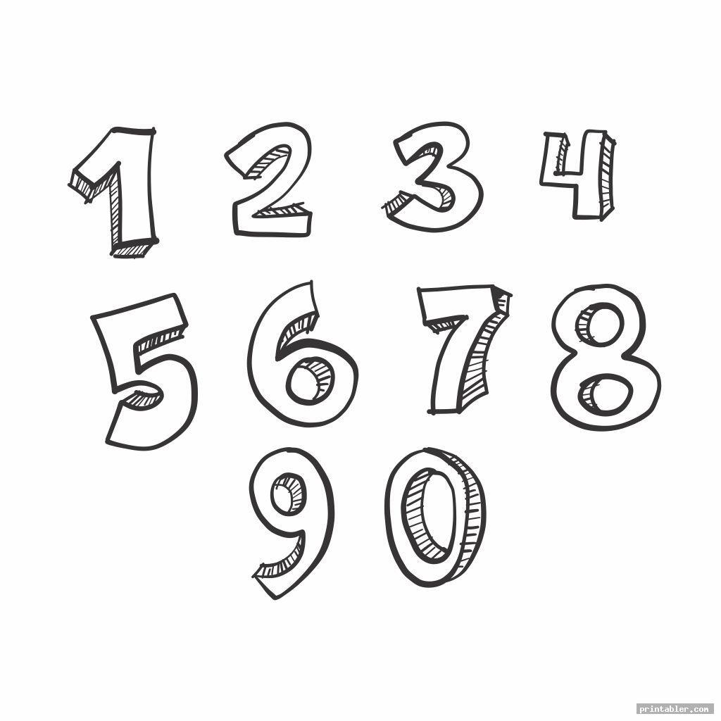 Monster Numbers 1 10 Printable