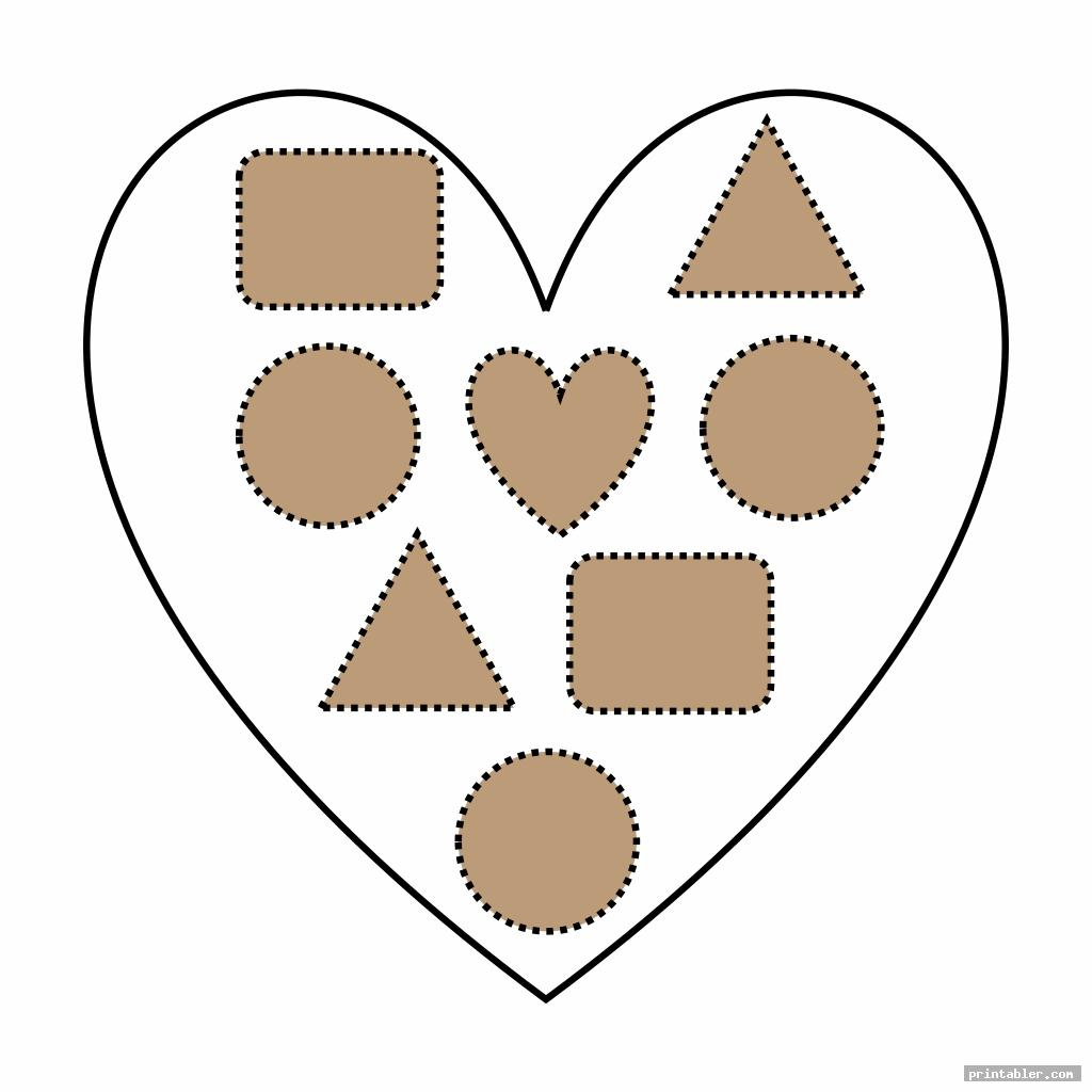 Valentine Printable Cutting Worksheets Preschool