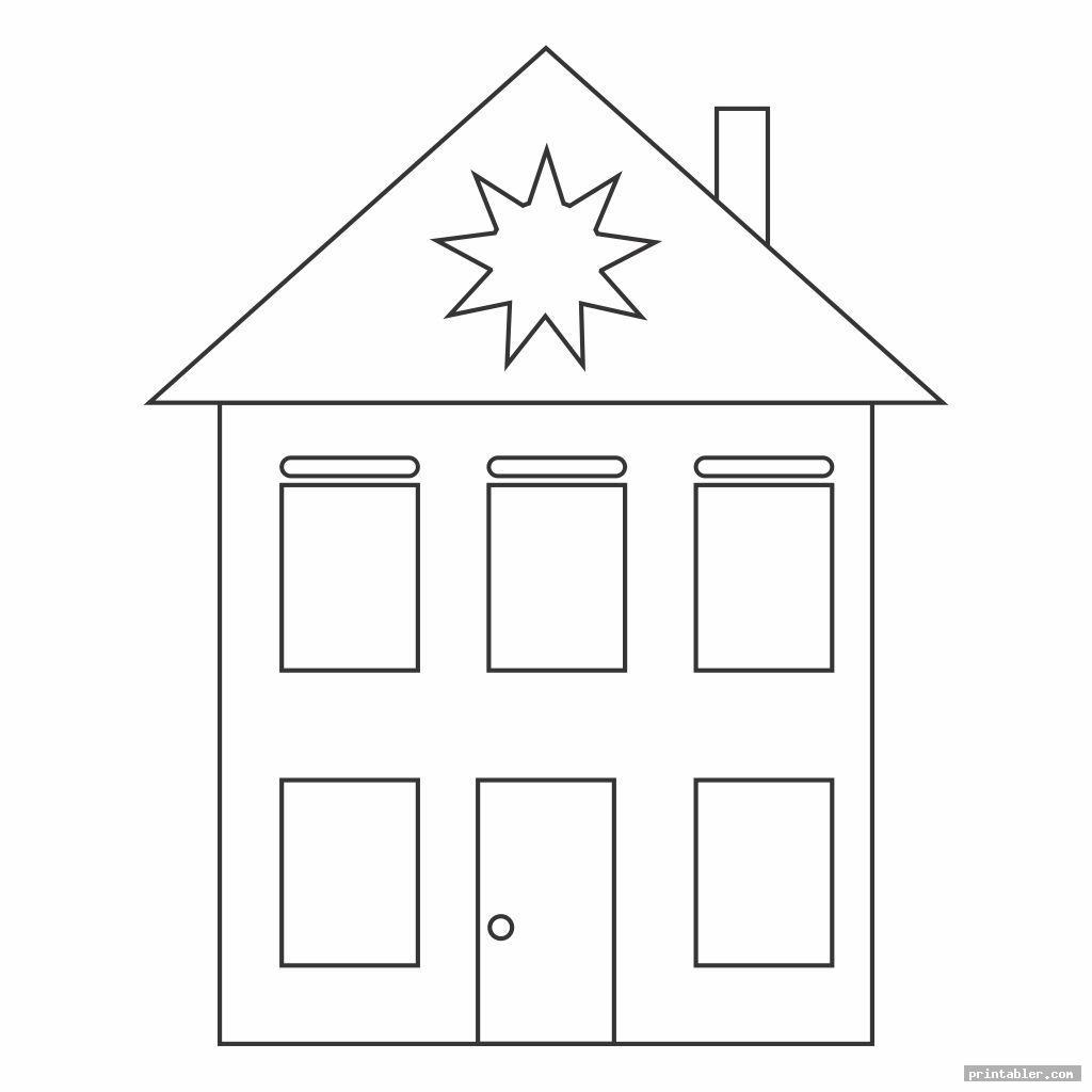 Shape Worksheets Printable Houses