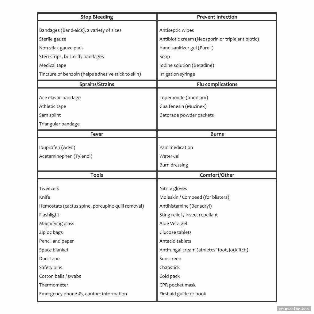 Printable First Aid Activities