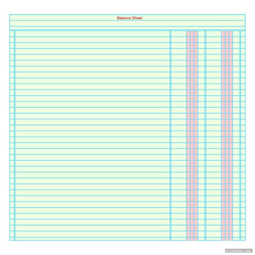 Printable Accounting Journal Templates