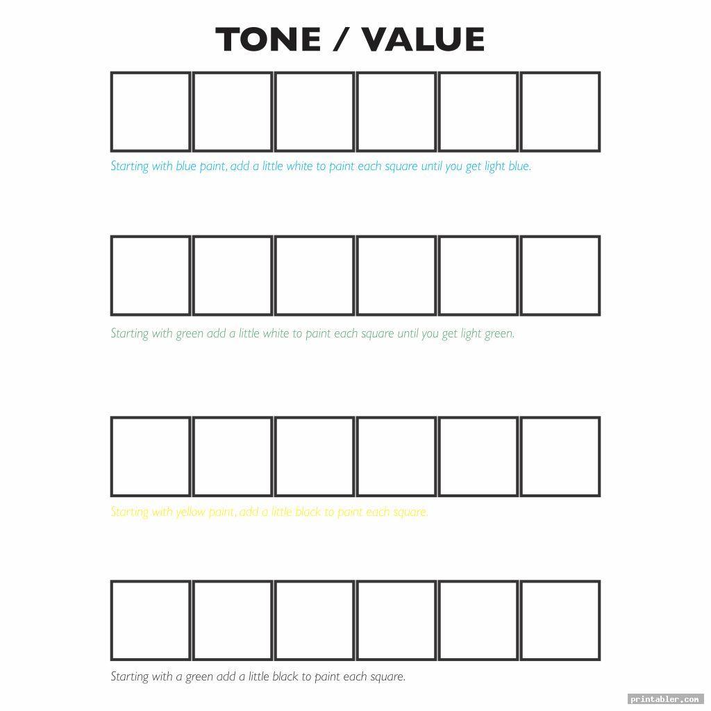 Value Scale Worksheet Printable