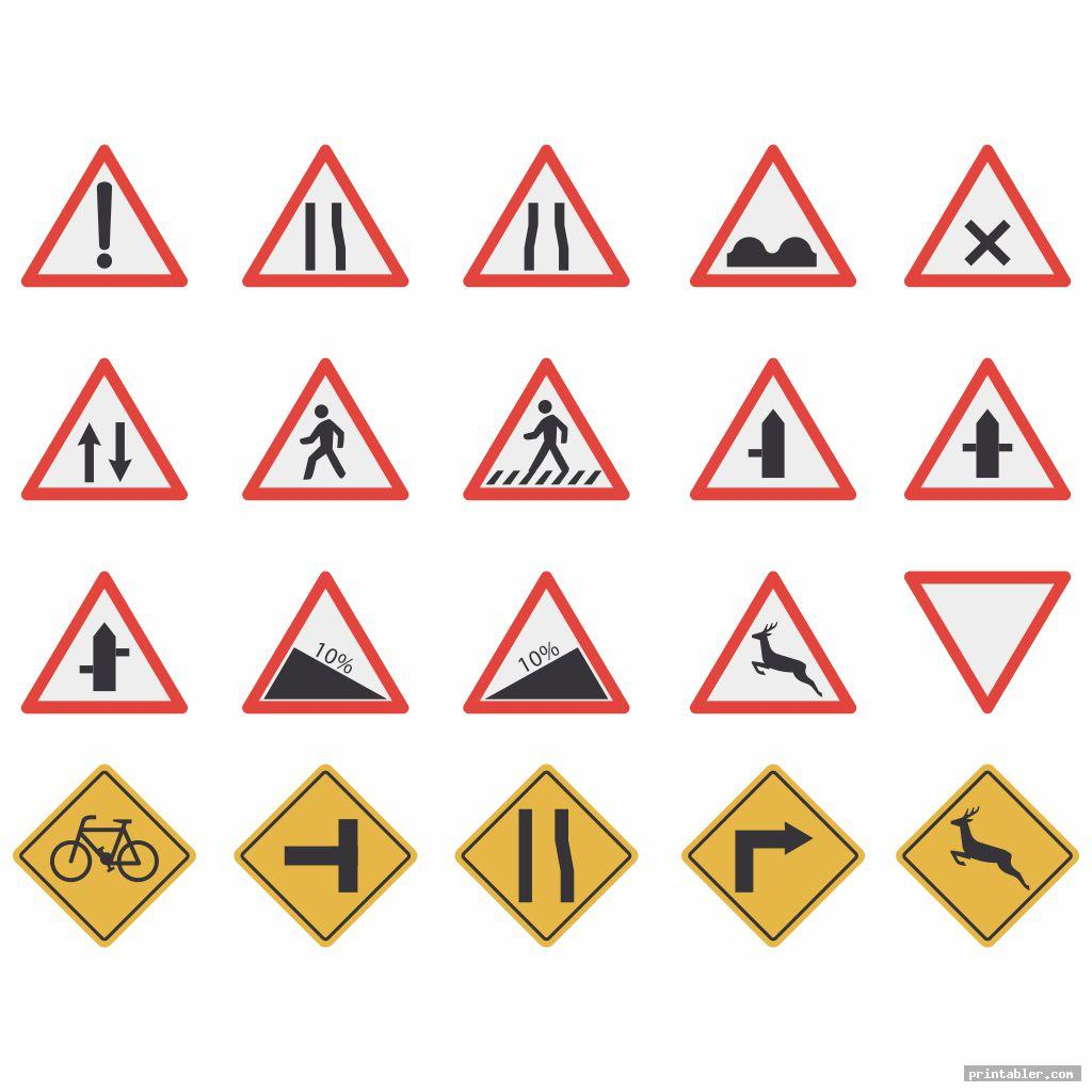 Traffic Sign Printables For Preschoolers