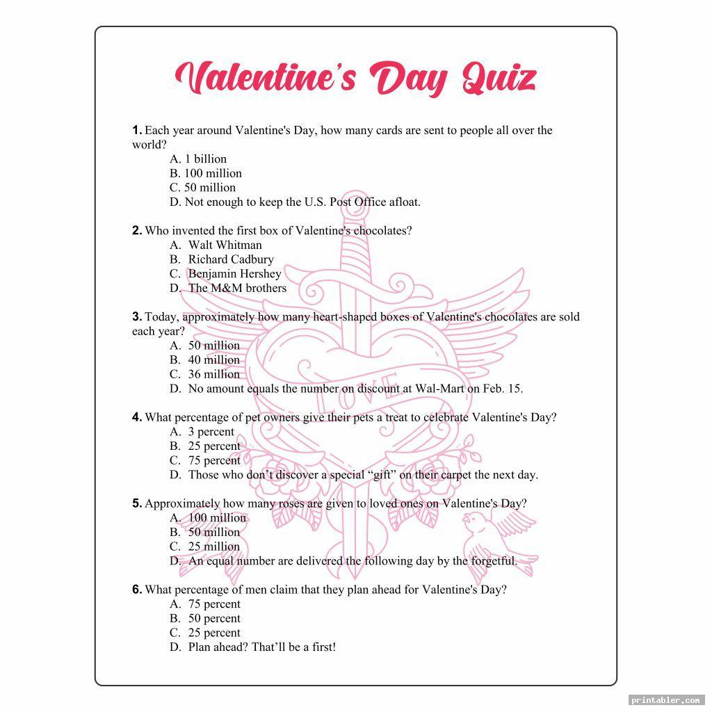 Valentine Day Printable Puzzles