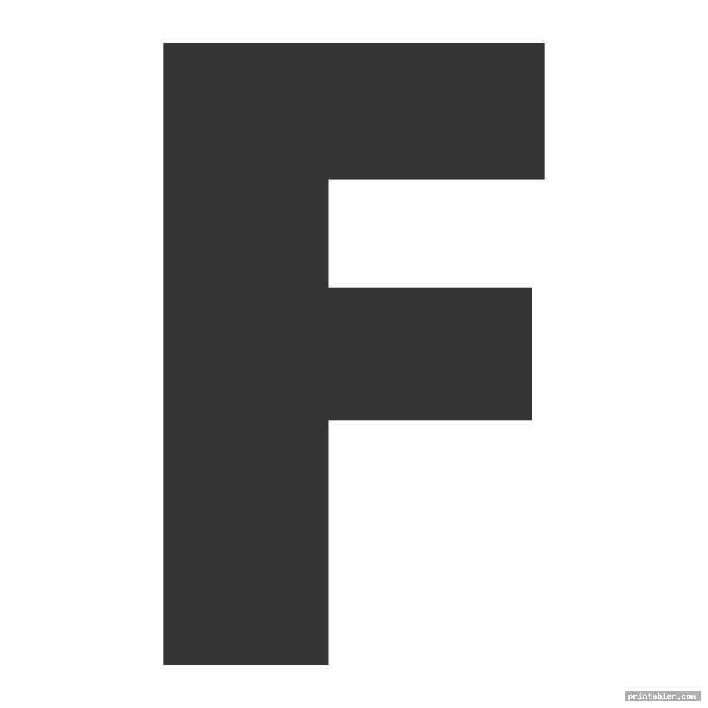 Large Letter F Template Printable