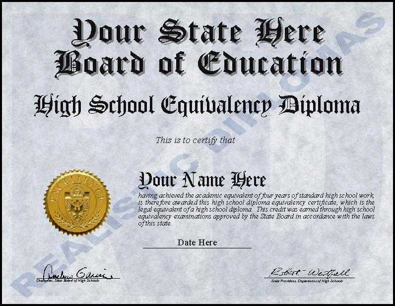 Free Ged Diploma Templates