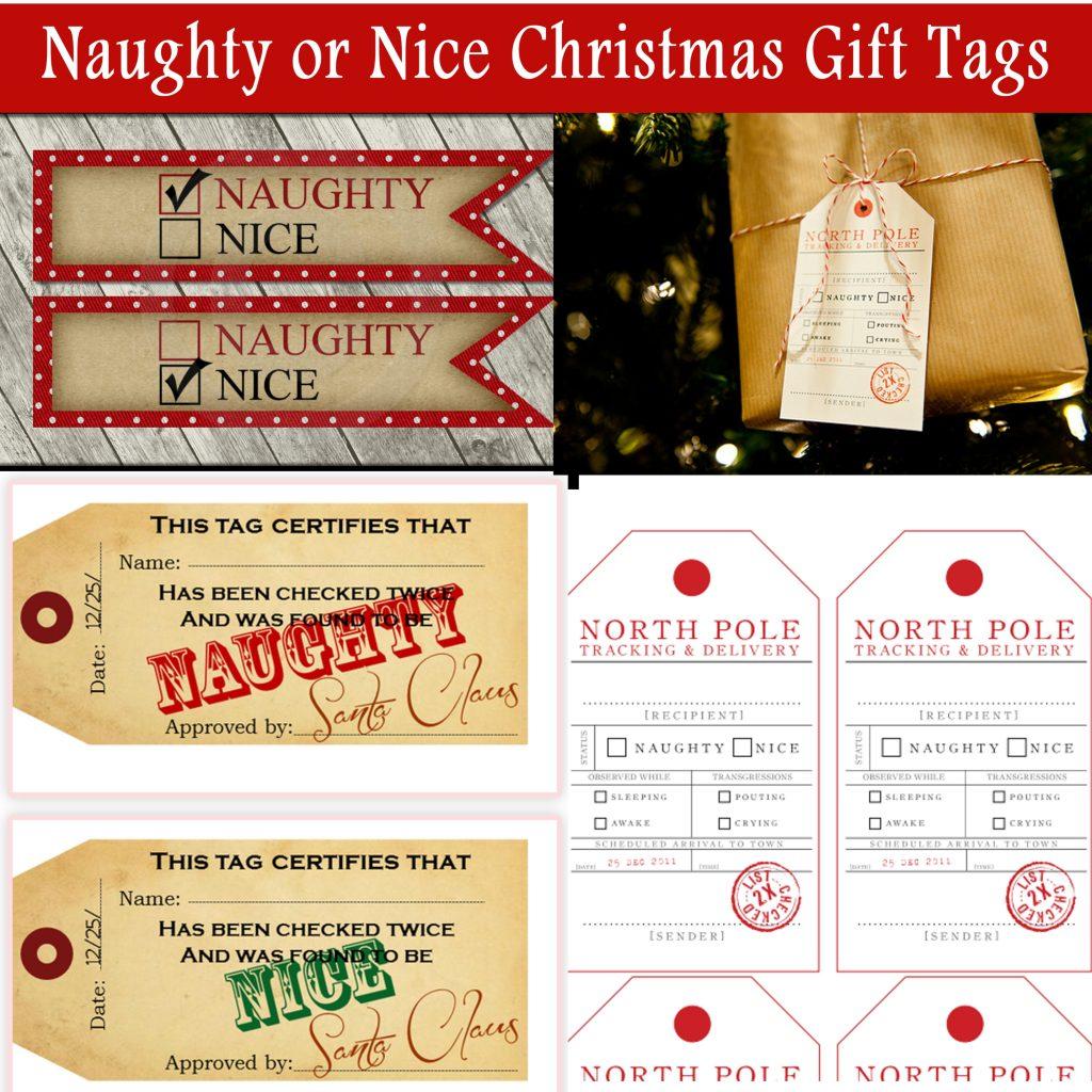 Naughty Or Nice Christmas T Tags