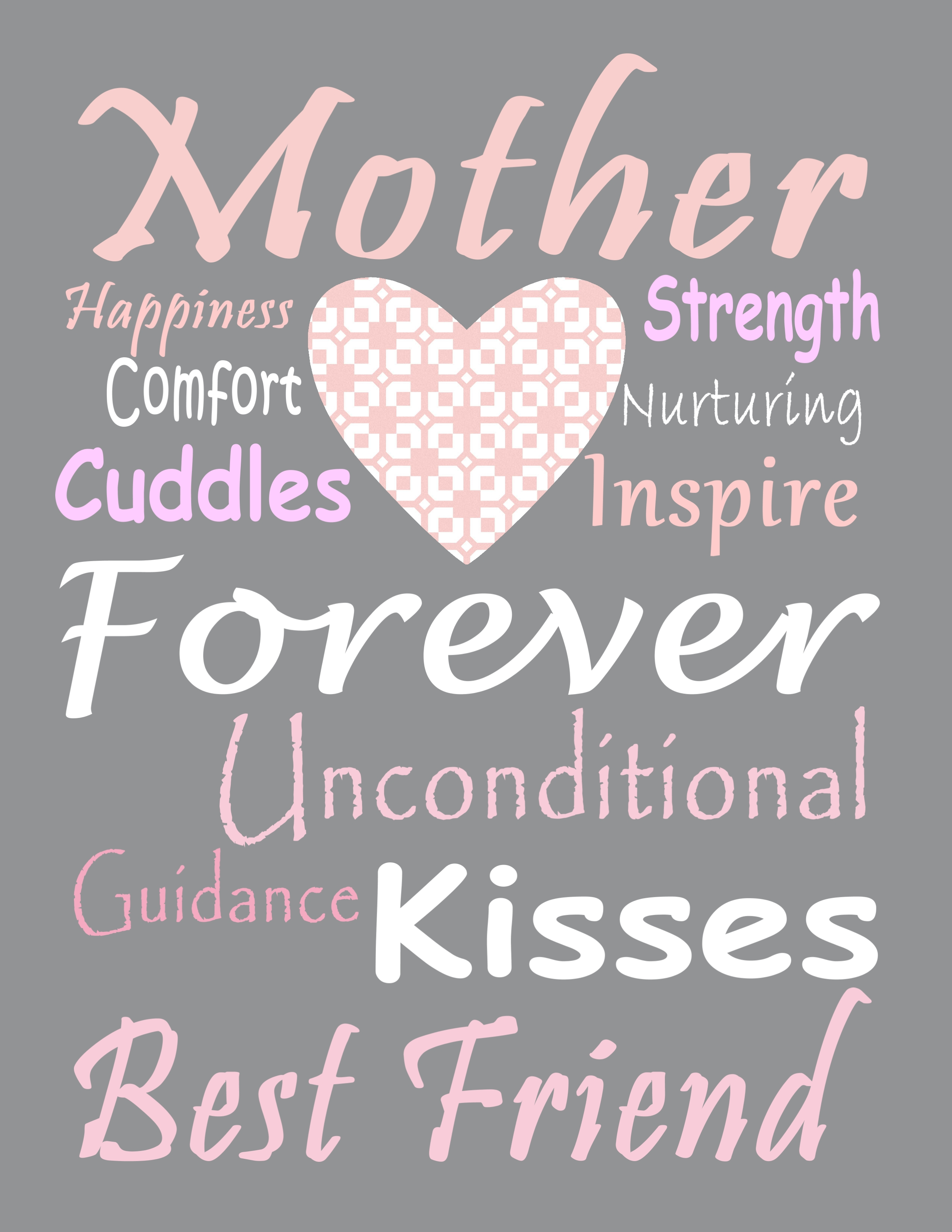 9 Free Printable Mother S Day Subway Art Prints