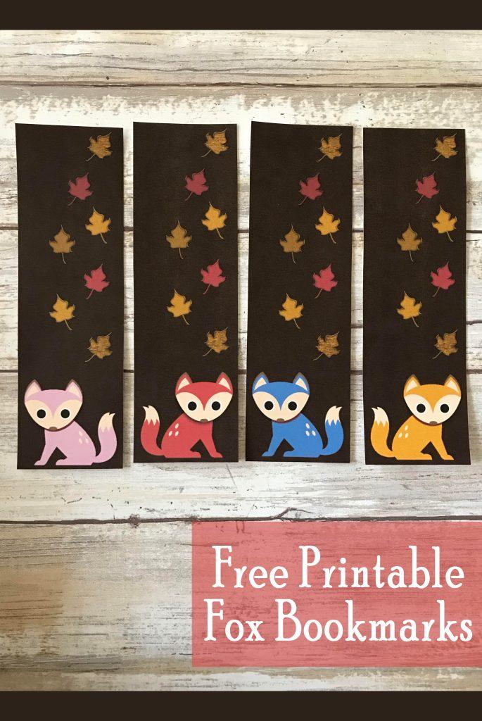 Printable Fox Bookmarks Fall Freebie Printables 4 Mom