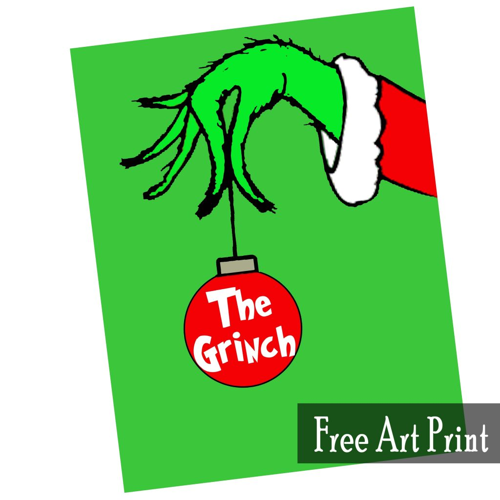 The Grinch Free Art Printable For Christmas
