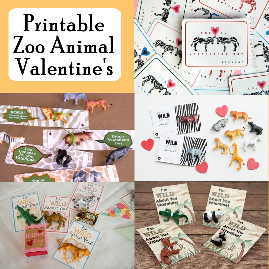 Zoo Animal Printable Valentine S