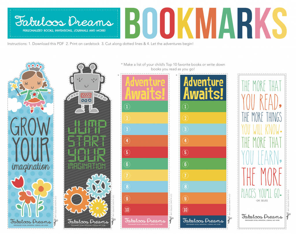 Free Printable Bookmarks For Kids