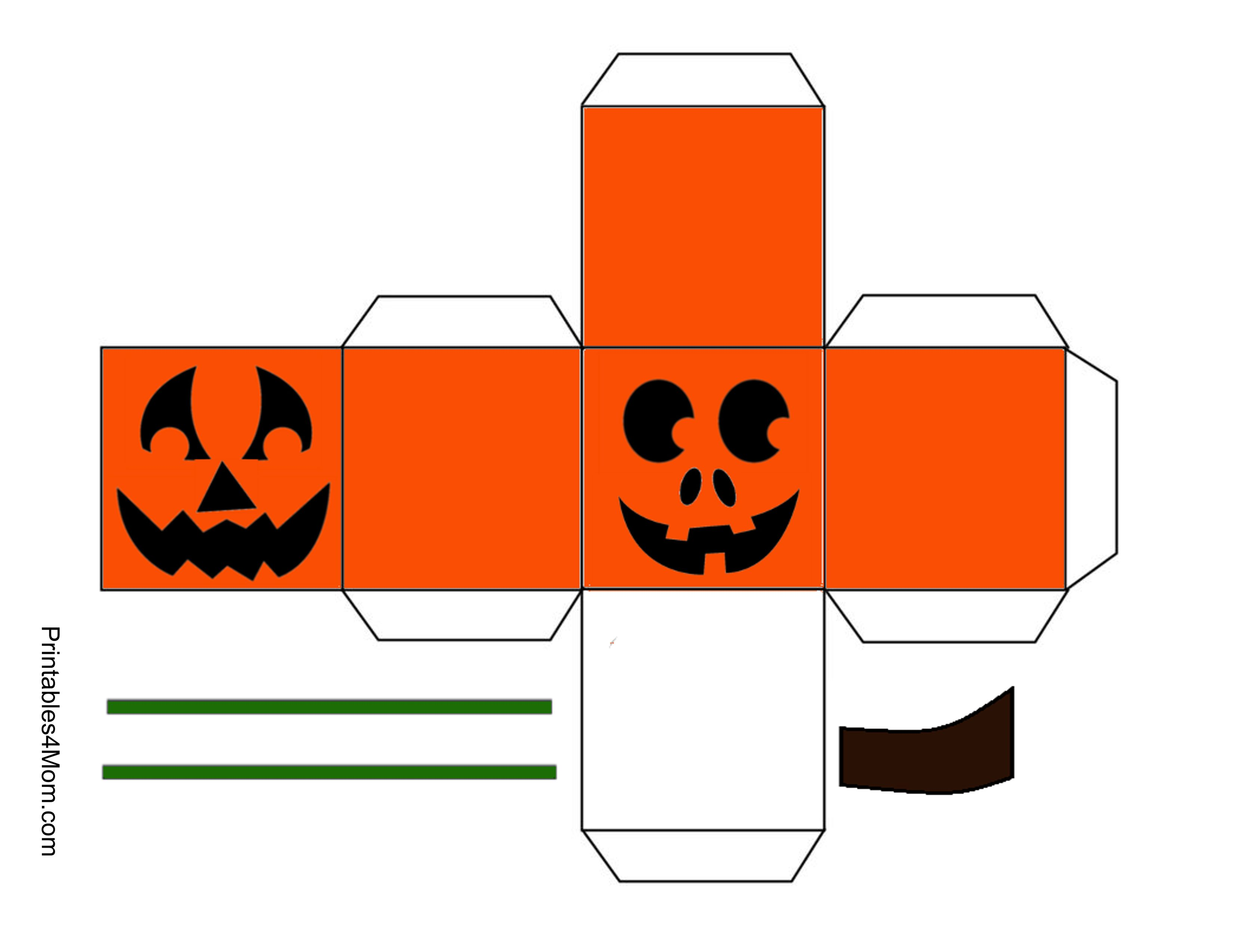 Halloween Pumpkin Treat Boxes