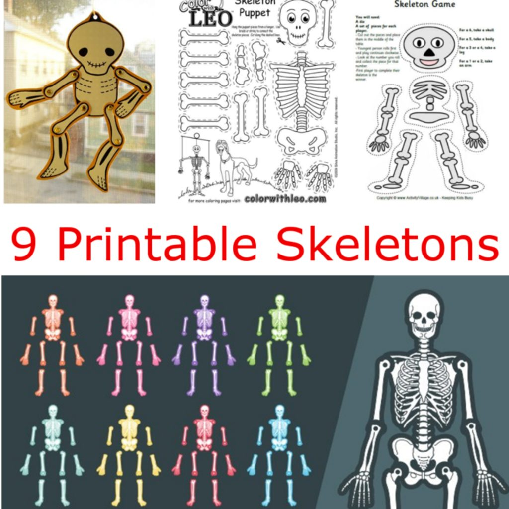 9 Printable Skeleton Crafts