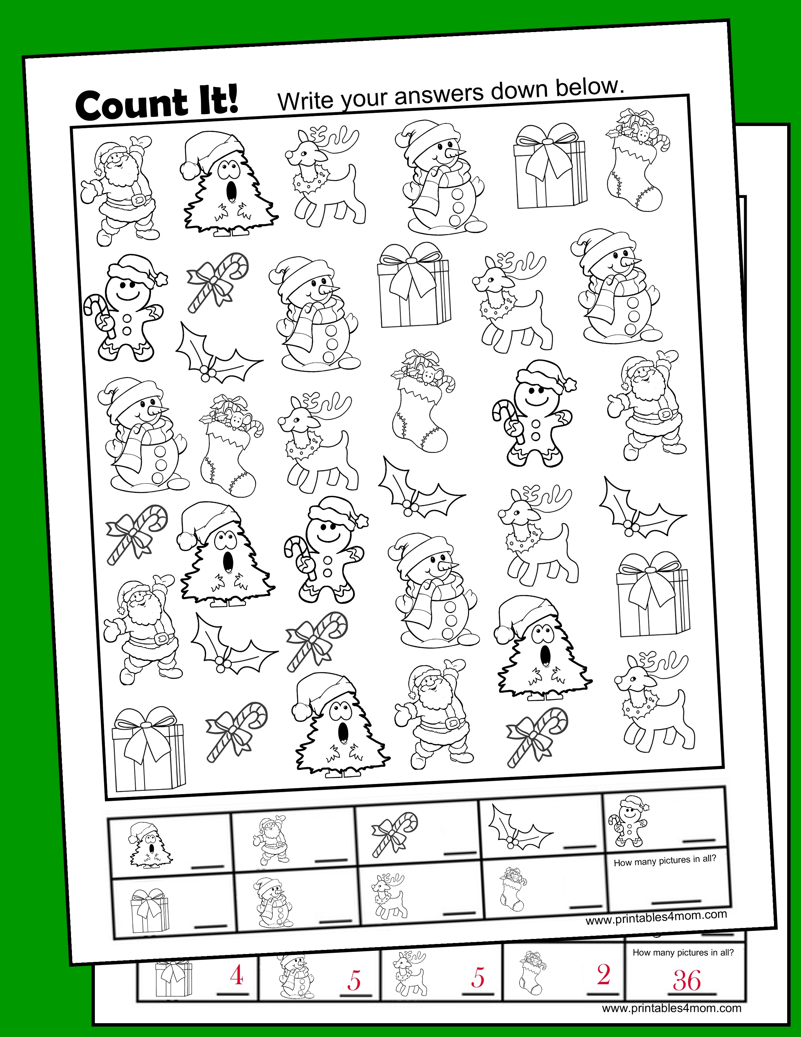 Christmas Free I Spy Printable Activity