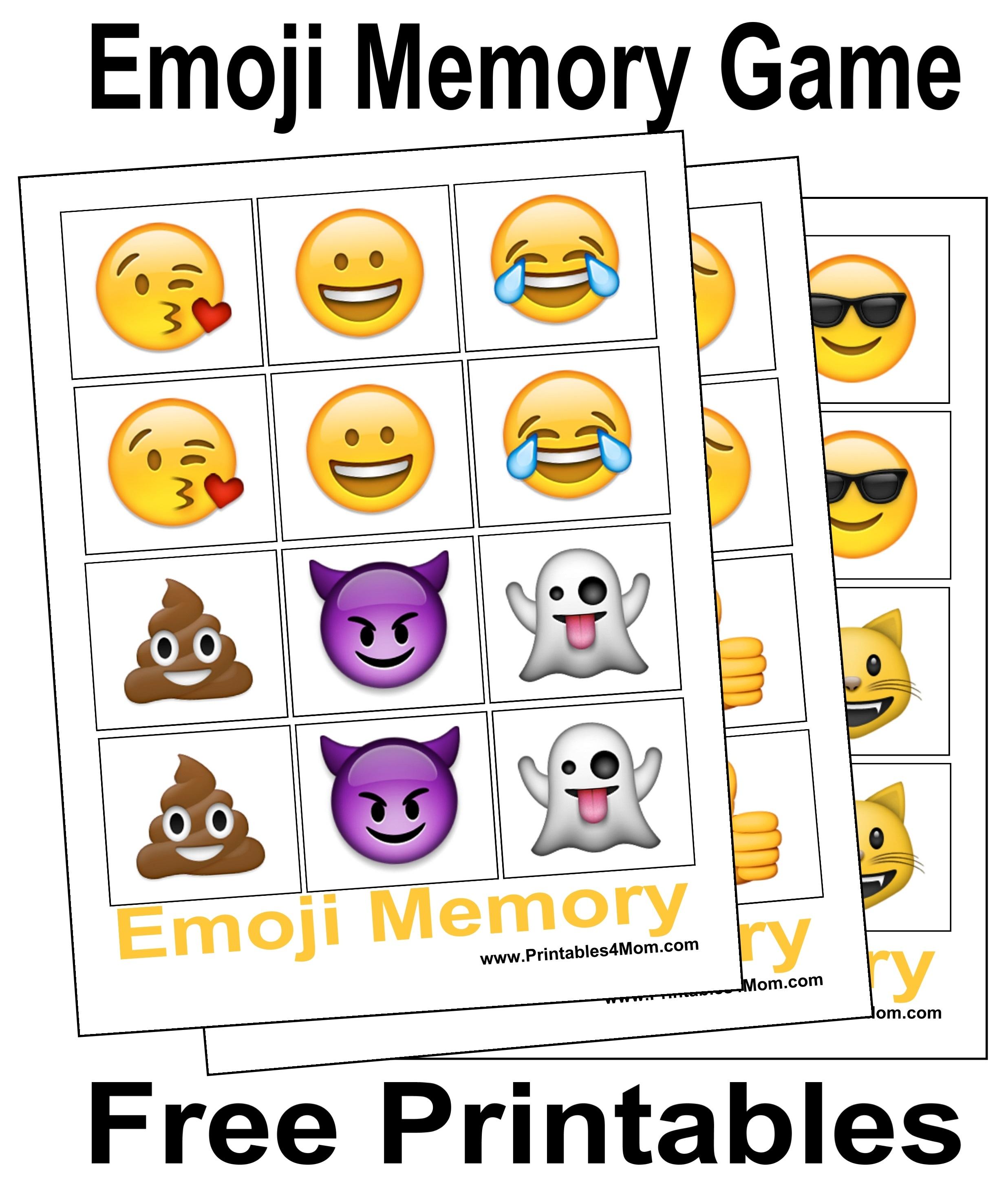 Emoji Memory Game Printable