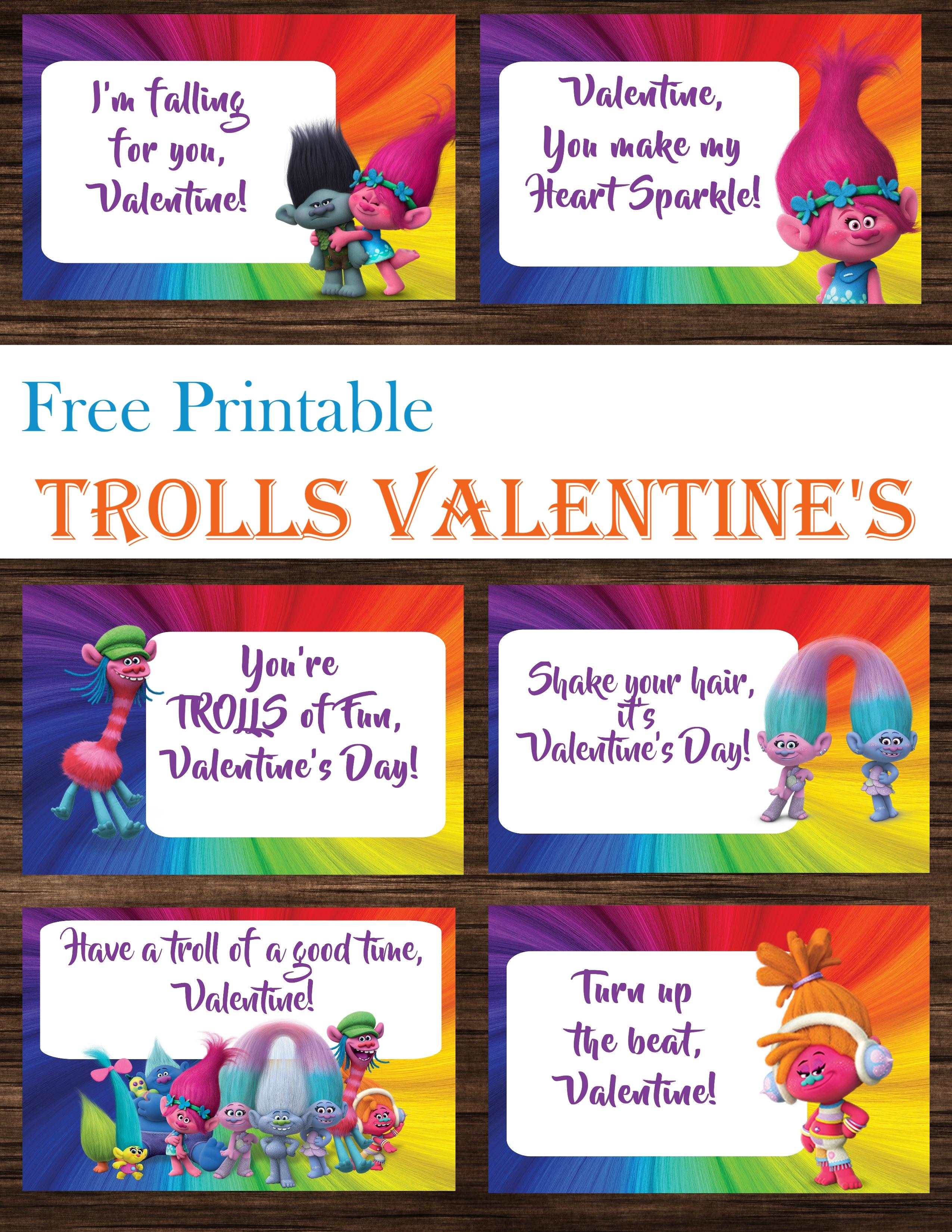 Trolls Valentine S Day Cards Free Printables
