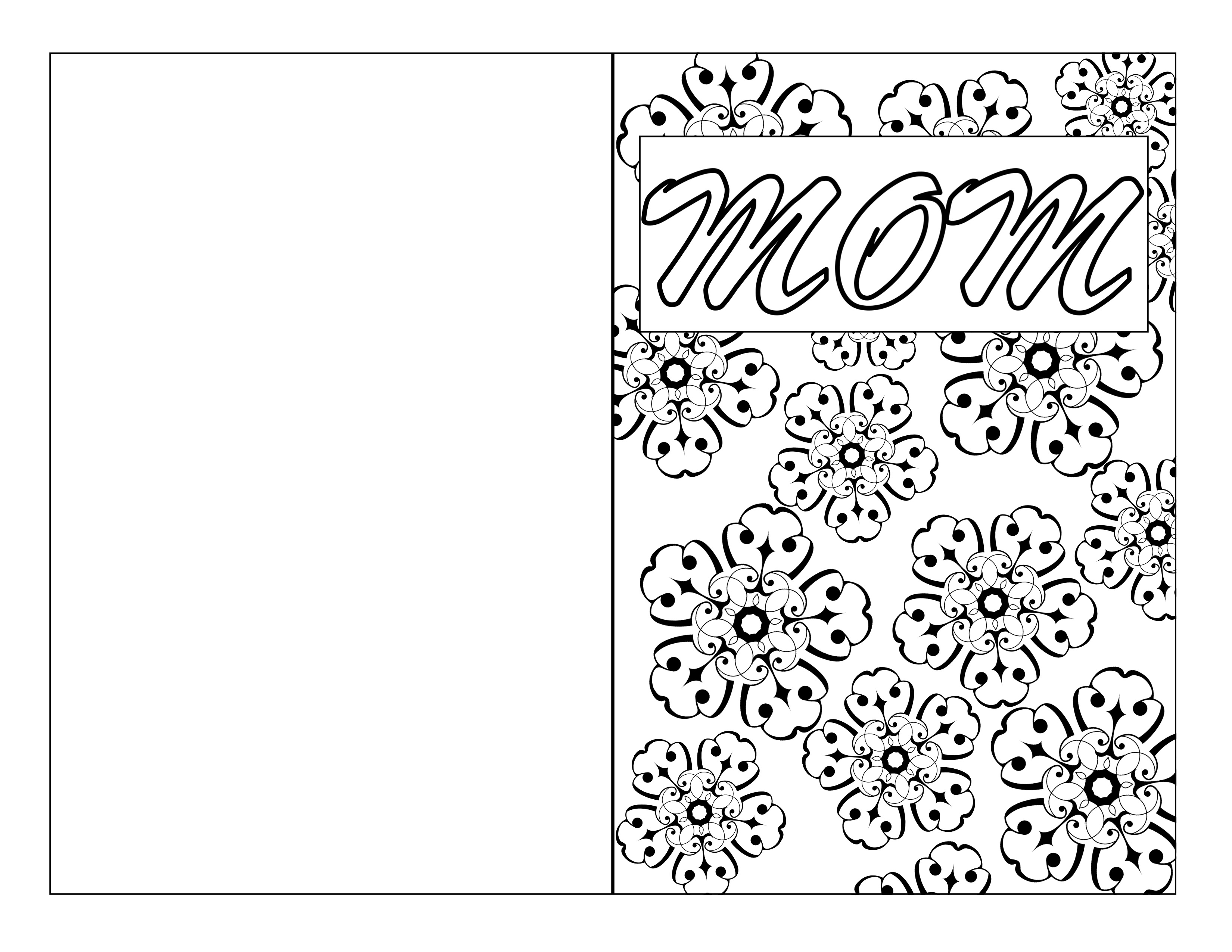 Mother S Day Coloring Pages Cards